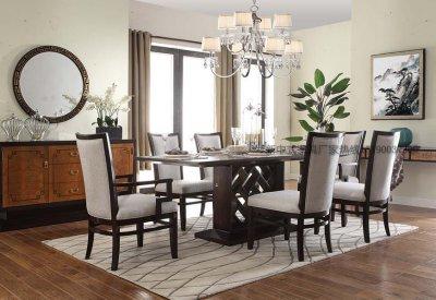 新中式餐桌椅组合定做实木餐桌餐椅定做餐厅酒店餐桌椅