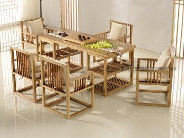 新中式茶桌椅组合现代中式实木泡茶桌样板房家_新中式家具定制11