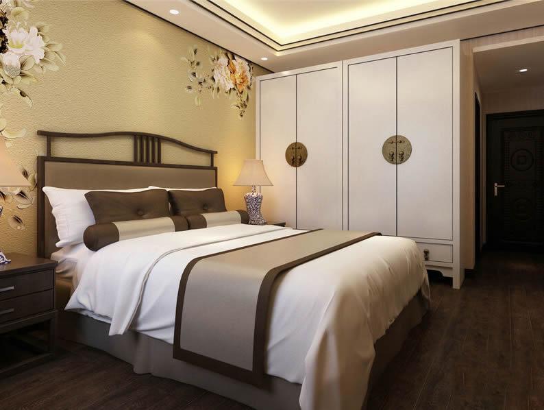 新中式实木床1.8米婚床简约现代新古典样板房客房客栈宾馆大床定制3