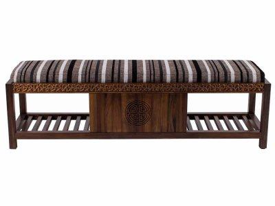 新中式床尾凳JYG-CQS-592
