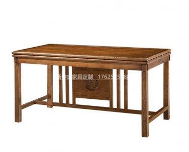 新中式书桌定制,现代中式实木书桌高端定制厂家