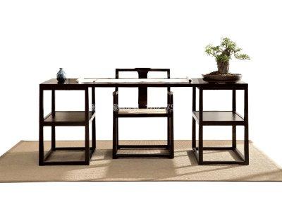 新中式实木书桌椅定制,现代中式实木书桌书椅高端定制厂家