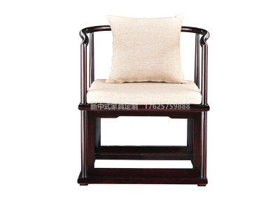 新中式书椅高端定制,现代中式实木书椅定做工厂