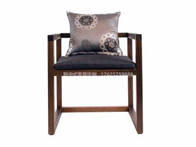 新中式雕花书椅定制,现代中式实木书椅高端定制厂家,新中式书椅定做工厂