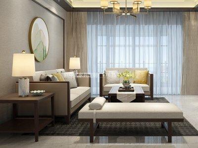 新中式实木布艺沙发组合定制厂家,现代中式实木沙发组合定制工厂厂家