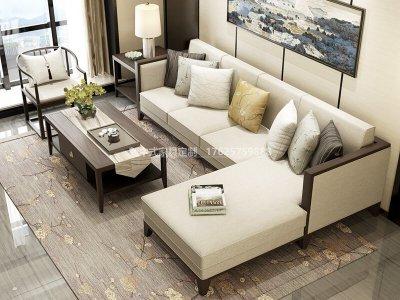 新中式沙发组合定制厂家,现代中式实木沙发组合定制工厂厂家