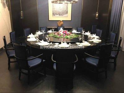 新中式电动餐桌组合定制,现代中式实木餐桌椅高端定制,电动餐桌高端定制