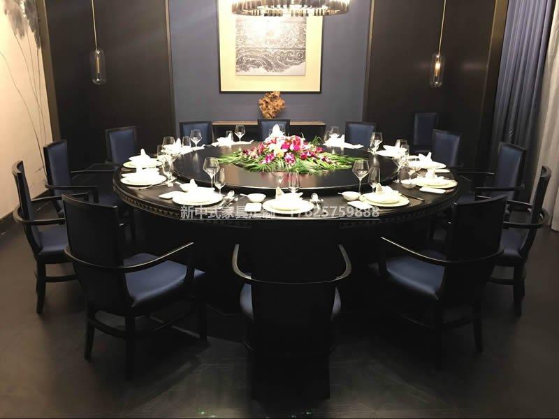 新中式电动餐桌组合