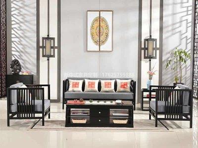 新中式沙发组合,现代中式实木沙发组合,实木沙发组合高端定制