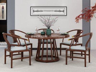 新中式餐桌椅组合JYG-CQS-1267
