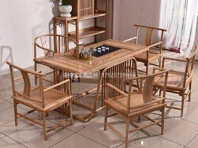 新中式茶桌椅JYG-CQS-1324