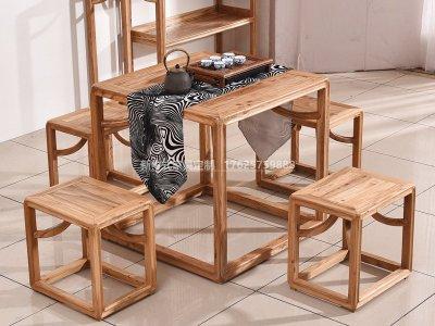 新中式茶桌椅JYG-CQS-1325