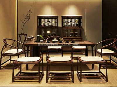 新中式茶桌椅JYG-CQS-1320