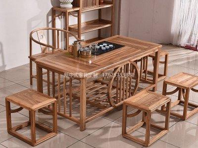 新中式茶桌椅JYG-CQS-1322