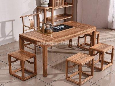 新中式茶桌椅JYG-CQS-1323