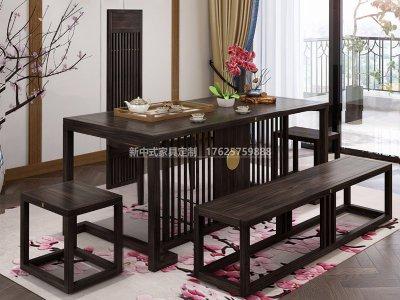 新中式茶桌椅组合JYG-CQS-1338