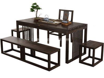 新中式茶桌椅组合JYG-CQS-1339