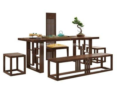 新中式茶桌椅组合JYG-CQS-1342