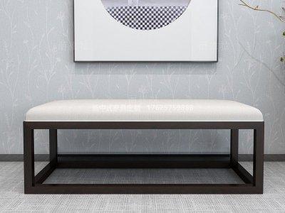 新中式床尾凳JYG-CQS-1401