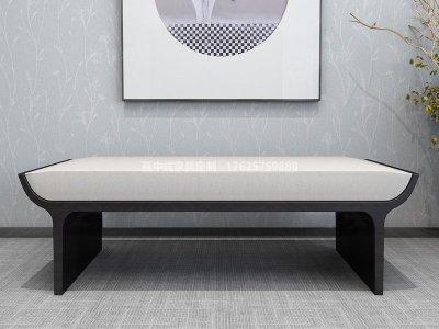 新中式床尾凳JYG-CQS-1402