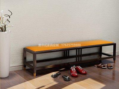 新中式换鞋凳JYG-CQS-1428