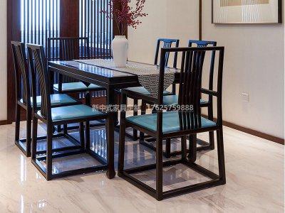 新中式餐桌椅JYG-CQS-1510