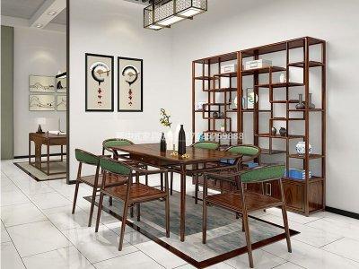 新中式餐桌椅组合JYG-CQS-1519