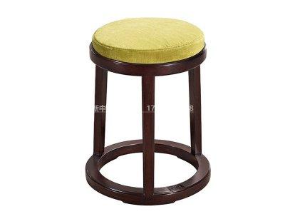 新中式圆凳JYG-CQS-1524