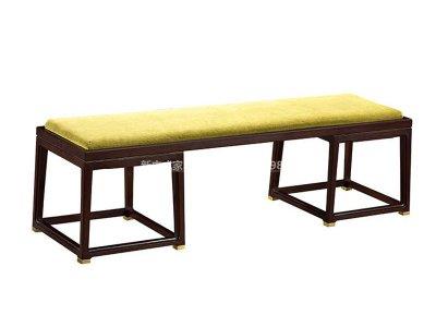 新中式床尾凳JYG-CQS-1536