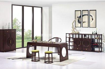 新中式茶桌椅组合JYG-CQS-1546