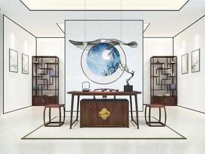 新中式茶室家具JYG-CQS-1560