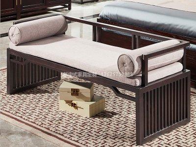 新中式床尾凳JYG-CQS-1640