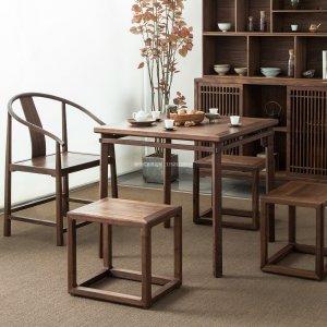 新中式茶室家具JYG-CQS-1672