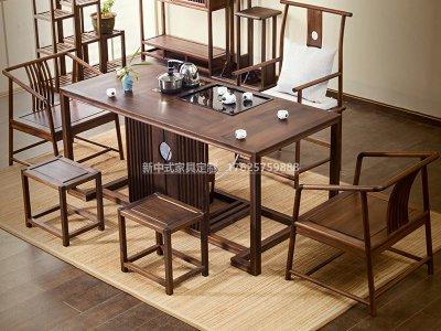 新中式茶桌椅组合JYG-CQS-1696