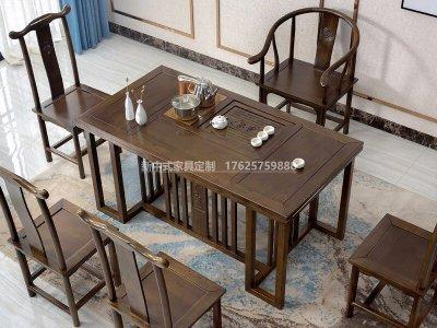 新中式茶桌椅组合JYG-CQS-1725