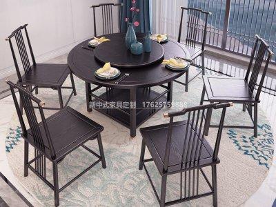 新中式餐桌椅组合JYG-CQS-1735