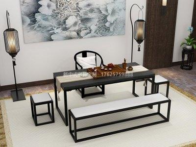 新中式茶室家具JYG-CQS-1742