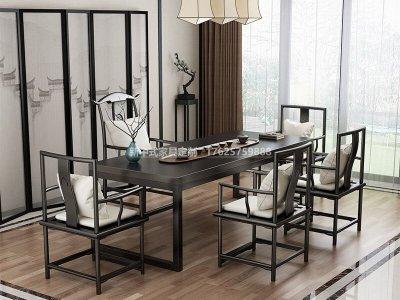 新中式茶室家具JYG-CQS-1745