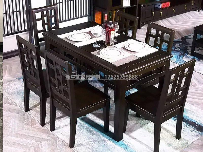 新中式餐桌椅组合