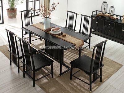 新中式餐桌椅组合JYG-CQS-1781