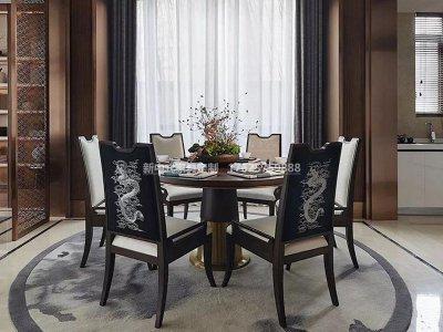 新中式餐桌椅组合JYG-CQS-1789