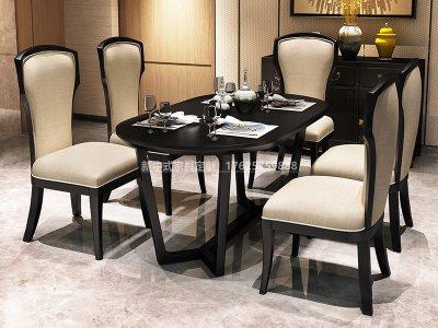 新中式餐桌椅组合JYG-CQS-1792