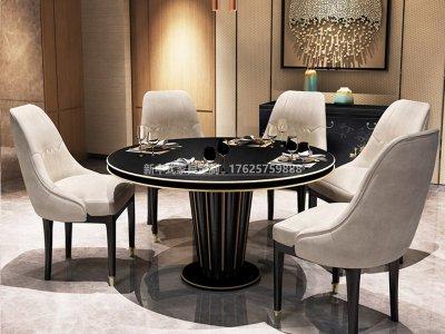 新中式餐桌椅组合JYG-CQS-1793