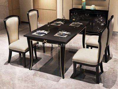 新中式餐桌椅组合JYG-CQS-1794