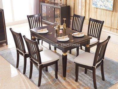 新中式餐桌椅组合JYG-CQS-1805