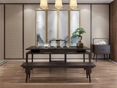 新中式茶桌椅组合JYG-CQS-1823