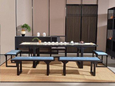 新中式茶桌椅组合JYG-CQS-1834