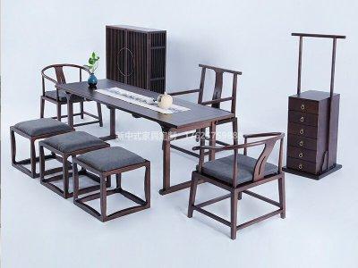 新中式茶桌椅组合JYG-CQS-1836