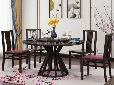 新中式餐桌椅JYG-CQS-1853