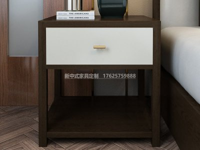 新中式床头柜JYG-CQS-1895